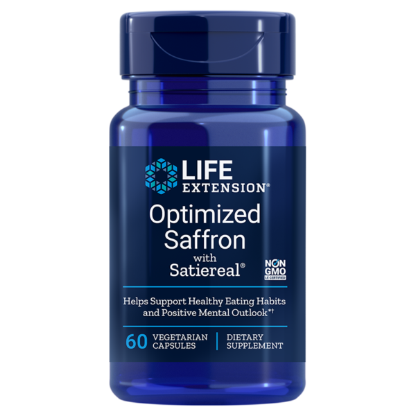 "alt="" A picture of Optimized Saffron with Satiereal® from life extension."""
